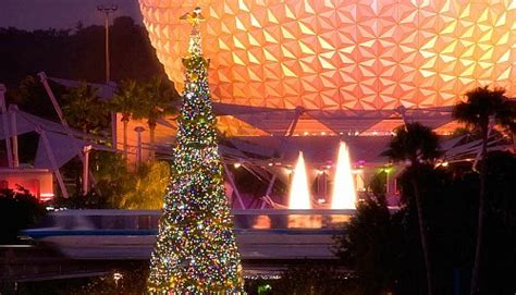 human christmas tree epcot facts about christmastime at walt disney world