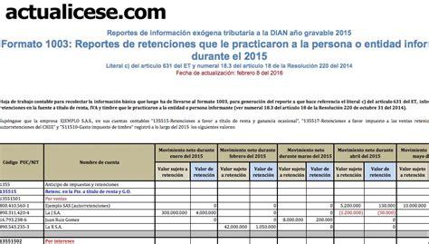 decreto 1070 de 2013 modelos y formatos actualicesecom dian certificado de ingresos y retenciones 2016