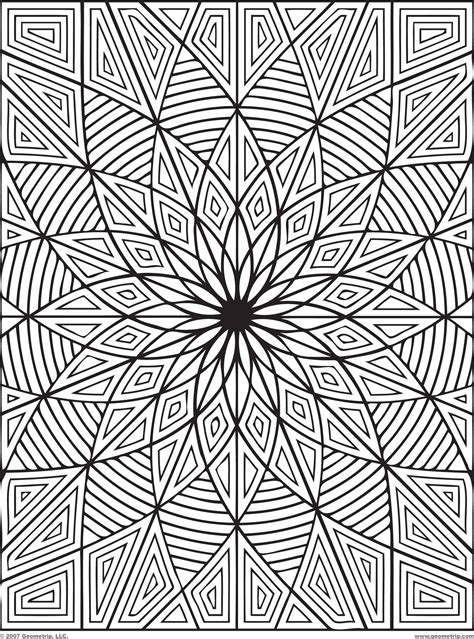 printable geometric coloring pages free coloring pages of geometric patterns