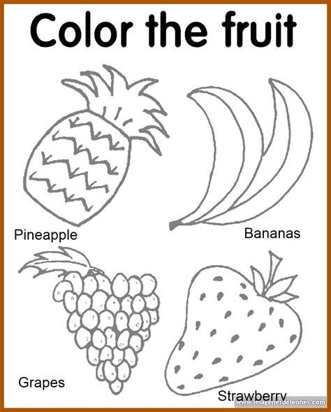 dibujos infantiles ingles frutas en ingles para colorear y disfrutar imagenes de