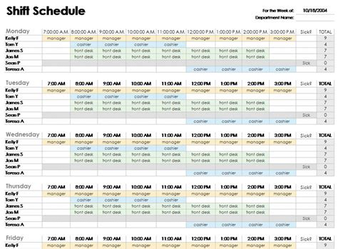 download monthly employee shift schedule template related