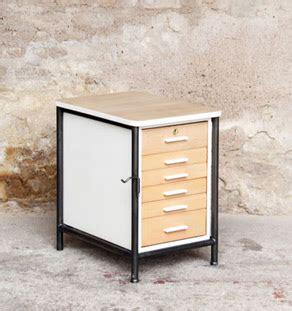bureau d 騁ude paysage lyon meuble d appoint bureau en bois et m 233 tal 6 tiroirs