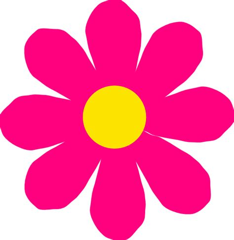 flower clipart bright pink flower clip at clker vector clip