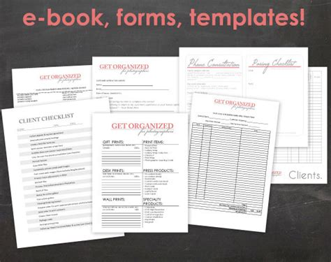 photography business forms templates get organized for photographers photography by jennamiedesigns