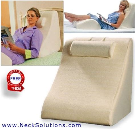 back wedge bed reading pillow wedge pillow system i just don t know where i would keep