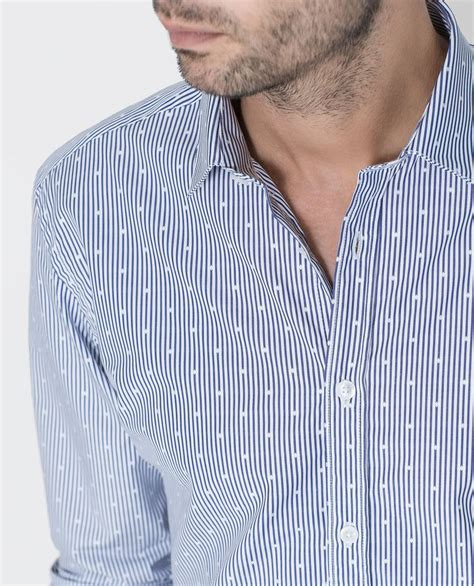Stripe Shirt Kemeja Salur striped dobby shirt sport stripes shirts and dobby weave