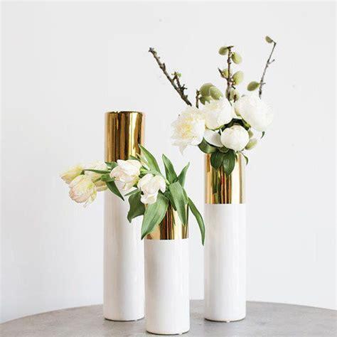 Klein White Gold white gold 20in klein vase white gold gold and gold