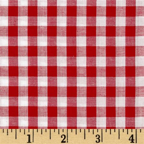 gingham pattern richcheck 60 quot gingham check 1 4 quot red discount designer