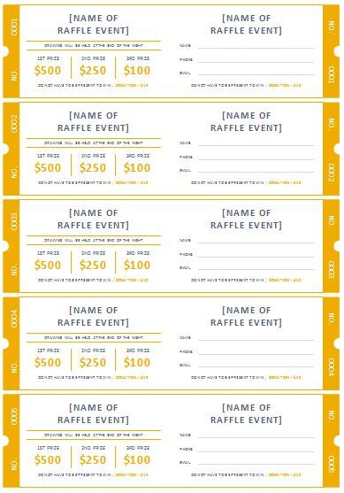 draw tickets template free the 25 best printable raffle tickets ideas on