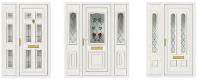 White Upvc Front Door With Side Panel Upvc Front Door And Side Panel