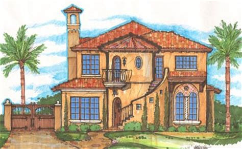 italian style house plans 3455 square foot home 2