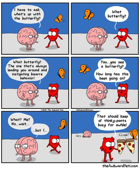 and brain an awkward yeti collection butterfly explained