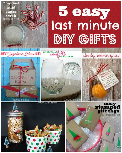 Handmade Easy Gifts - 5 easy last minute gifts to diy