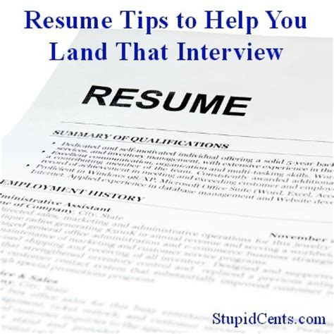 Resume Tips Help Resume Tips To Help You Land That