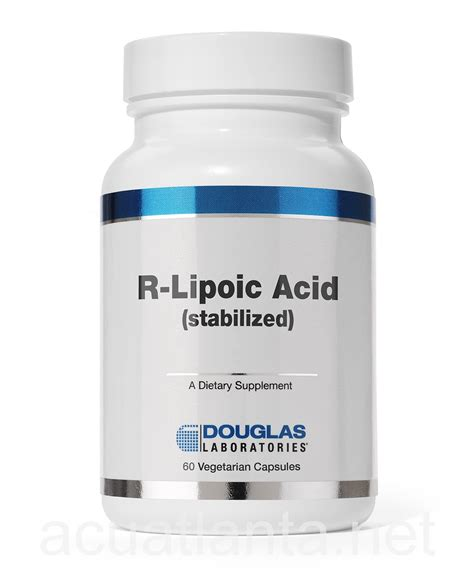 R Lipoic Acid For Detox by R Lipoic Acid 60 Capsules By Douglas Labs Free Shipping On