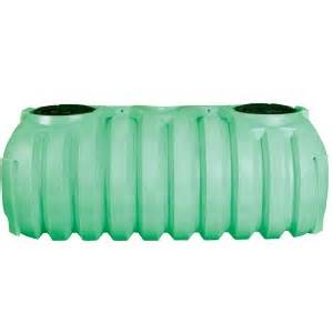 1000 Gallon 2 Compartment Plastic Septic Tank (Preplumbed)