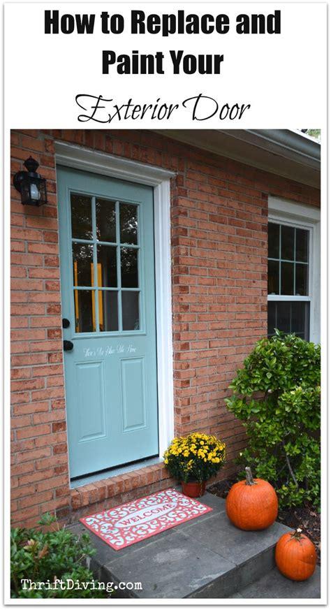 install  exterior door  paint