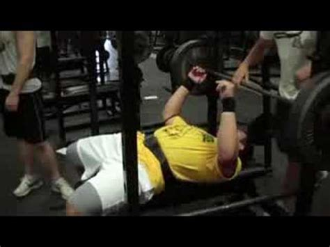 high school bench press record 380lb amarillo high school record bench press youtube