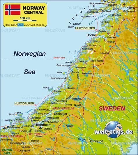karten de karte mittelnorwegen region in norwegen welt atlas de