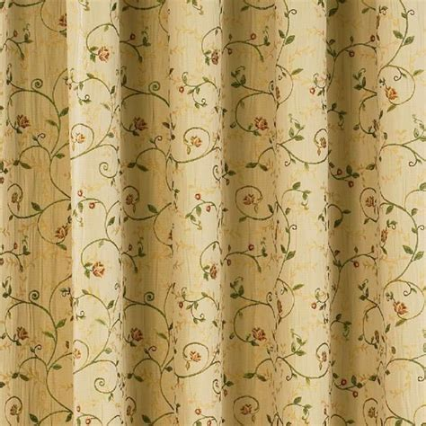 natural floral curtains sundour cedar natural floral pencil pleat readymade