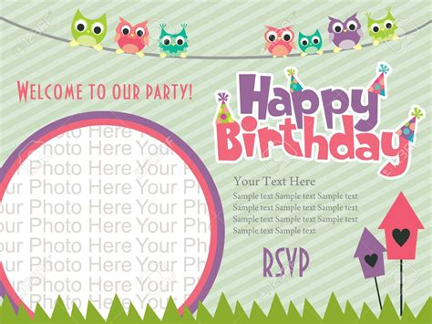 Birthday Invitation Card Template Pdf happy birthday invitation cards happy birthday