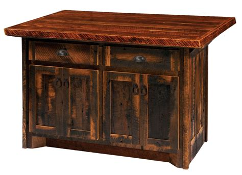 barnwood 60 quot artisan top kitchen island from fireside
