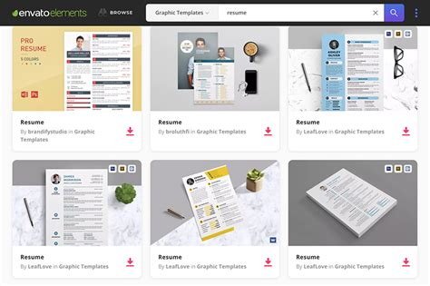 envato resume templates 18 professional business resume templates for 2018