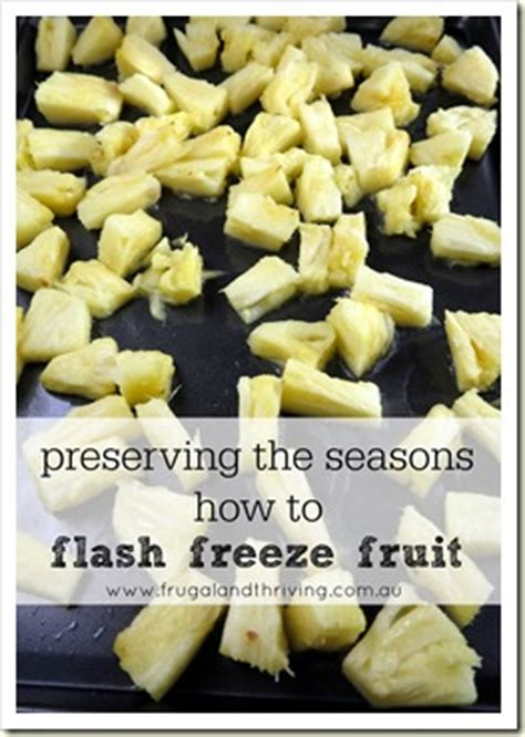 how to flash freeze fruit for later