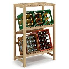 regal getränkekisten getr 228 nkekisten regal aus fichtenholz f 252 r 6 kisten