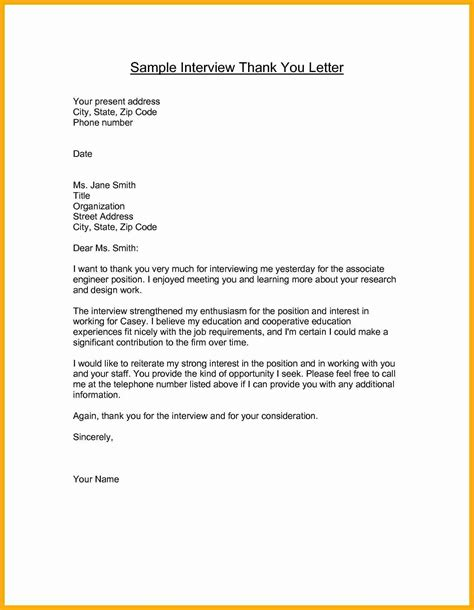 Thank You Letter To Template 7 Sle Thank You Letter After Data Analyst Resumes