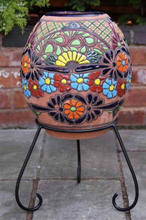 Indoor Chimineas For Sale clay chimenea painted chiminea patio heater indoor chimenea barbeque stove ebay