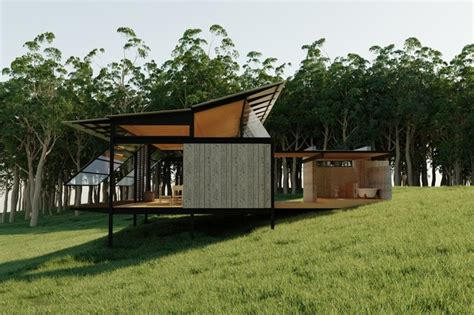 eco cabin plans eco cabin modern exterior sunshine coast by