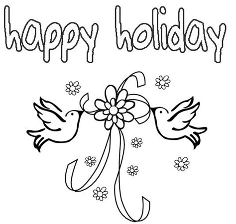 printable coloring pages for holidays happy holidays coloring pages printable coloring home