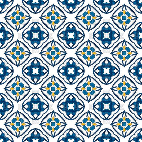 tiles pattern vector seamless blue geometric tiles pattern royalty free vector