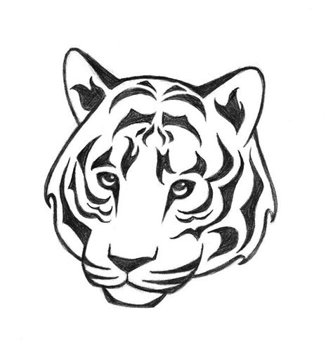 simple tiger tattoo 38 best tiger outlines images on
