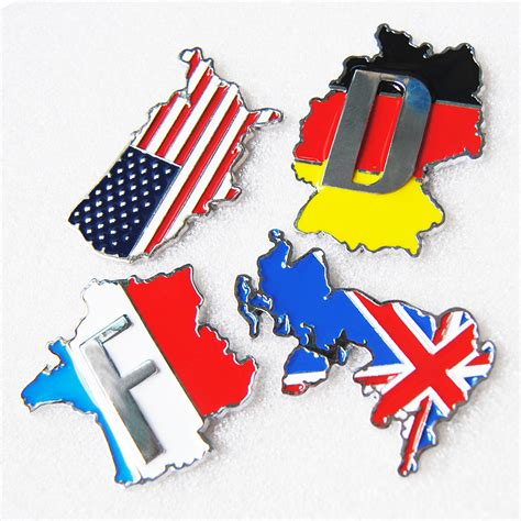 audi germany flag 3d aluminum uk us france germany flag car sticker emblem