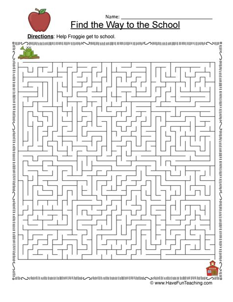 printable maze passages back to school maze worksheet for fourth grade mazes