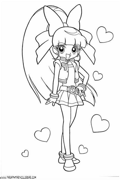 blossom powerpuff girls z coloring pages