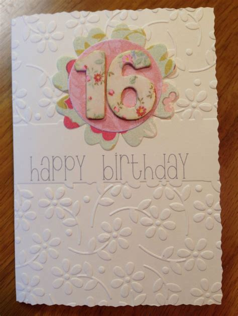 Handmade 16th Birthday Cards - 115 best images about 16th birthday cards on
