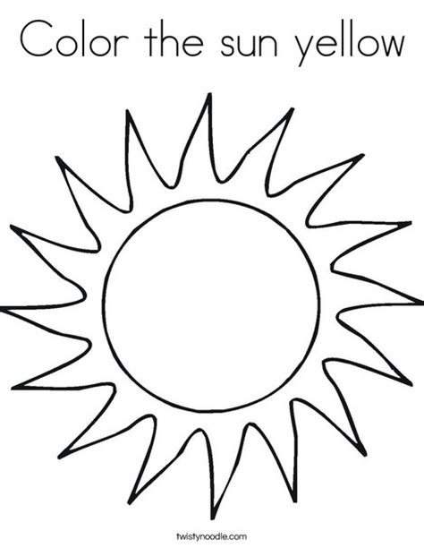 mr sun coloring page color the sun yellow coloring page twisty noodle