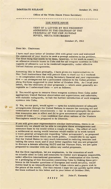 white house press release lot detail original white house press release of a letter to khrushchev regarding