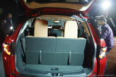 land rover discovery sport third row land rover discovery sport boot volume with third row up
