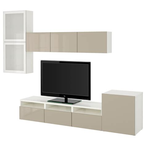 best 197 tv storage combination glass doors white selsviken
