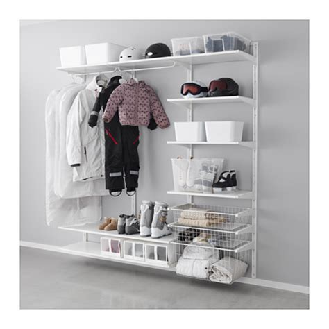 Wall Shelf With Clothes Rod by Algot Wall Upright Shelves Rod Ikea