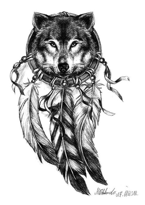 design your dream face amazing and simple wolf face tattoo design with feather