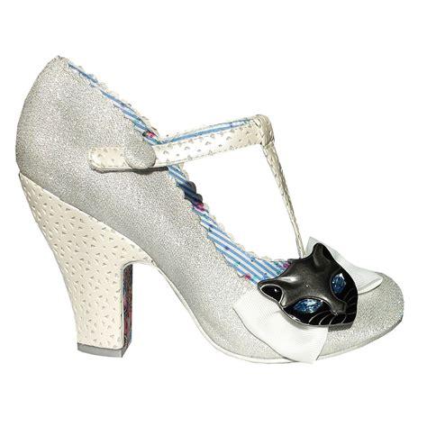 wedding shoes janes irregular choice feline friend silver cat