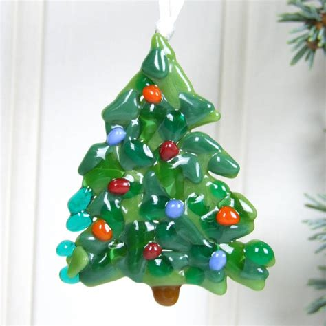 handmade glass christmas tree decoration by jessica irena