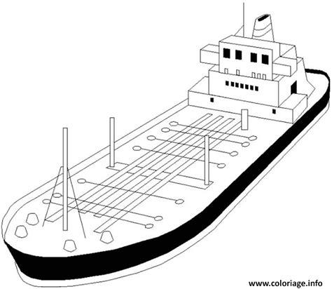 dessin bateau colorier coloriage bateau super petrolier dessin