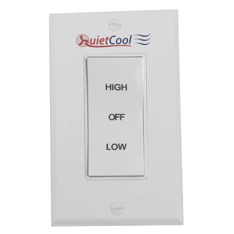 quietcool whole house fan quietcool 2 speed control switch it 35000 the home depot