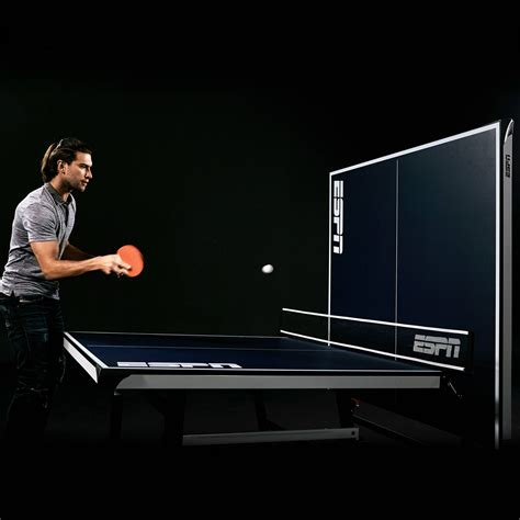 espn official size table tennis table with table cover details